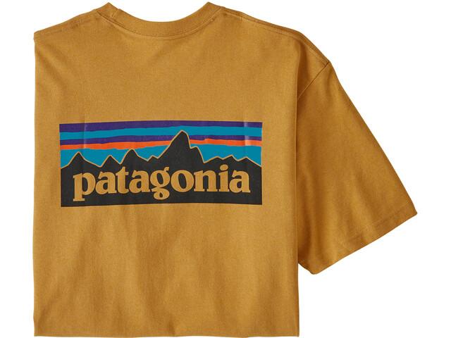 Patagonia P-6 Logo Responsibili-T-paita Miehet, glyph gold